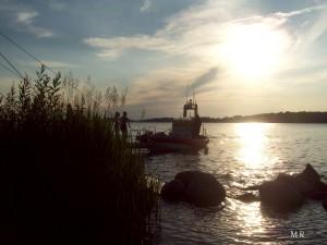 Solnedgång, vatten