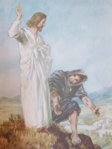 Djävulen frestade Jesus och djävulen frestar människan att göra grova fel, men man kan stå emot honom!